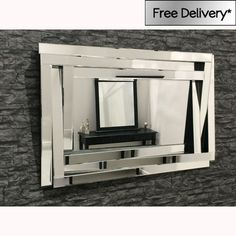 3D Multi Facet Mirror 120 x 80cm [EE2560] - �191.25 - Mirrors for Every Interior from Exclusive Mirrors