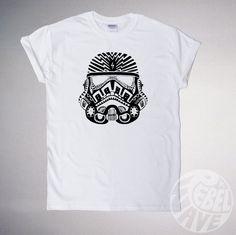 Retro Storm Trooper Starwars Tshirt, screen printed quality cotton mens unisex eco friendly graphic Tee, sizes s,m,l,xl, all colours