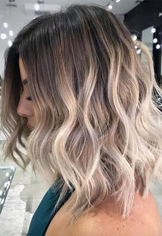 Are you going to balayage hair for the first time and know nothing about this technique? We've gathered everything you need to know about balayage, check! Short Balayage, Hair Color Balayage, Hair Color Highlights, Balyage Short Hair, Ombre Hair Bob, Brown Ombre Hair Medium, Brown Hair, Blonde Ombre Short Hair, Blonde Highlights Short Hair