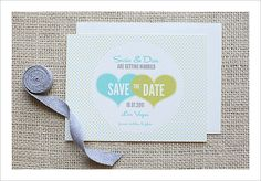 Move over hearts and flowers, these hearts and polka dots wedding invites are where it's at. Source: Wedding Chicks