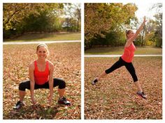 7 Fun Fall Fitness Moves to Beat Holiday Weight Gain - Trainer Sara Haley shows how to work off your fall food indulgences the fun way.