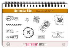 Brushset 17: Post Office by Ruthenia-Alba.deviantart.com on @deviantART