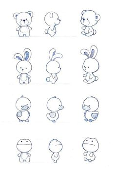 Character design by : simple cartoon drawings, simple animal drawings, simple Tier Doodles, Cute Doodles, Cute Doodle Art, Easy Animal Drawings, Easy Drawings, Drawing Animals, Drawing Faces, Simple Cartoon Drawings, Simple Cute Drawings