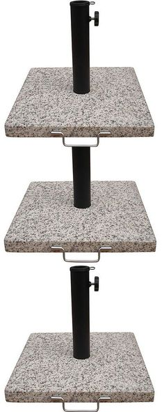 umbrella stands garden treasures speckled beige granite patio umbrella base metal holder stand
