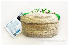 December 2013 GlobeIn Box: Handwoven Basket from Oaxaca, Mexico. Artisans Profirina and Margarita are matriarchal members of Oaxaca's petate basking-weaving community. Petate is an intricate weaving pattern that has strong cultural ties. Price: USD $29.99/month -- #home #subscriptionbox #accessories #lifestyle #jewelry #global #artisan #globein #crafts #handmade