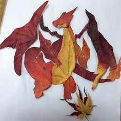 Twitter - Charizard made by Autumn Leaves!