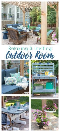 See how we transformed our boring back yard with the addition of a paver patio and cedar pergola. If you're looking for inspiration and patio decorating ideas, you'll find lots here. We've managed to create a relaxing and inviting outdoor room that we can