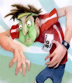 beating nausea on along run