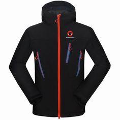 2017 Brand Men Hiking Jacket Windproof Waterproof Outdoor Sport Wear Softshell Fleece Cycling Camping Mountain Clothing New Mens Hiking Jacket, Men Hiking, Soft Shell, Hooded Jacket, Jacket Men, Types Of Jackets, Tech Fleece, Sport Outfits, Hiking Outfits