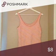 Old Navy ruffled tank Pale coral, ruffled chiffon tank- great condition Old Navy Tops Tank Tops