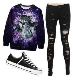 """Untitled #430"" by kaytiea01 on Polyvore featuring Converse"