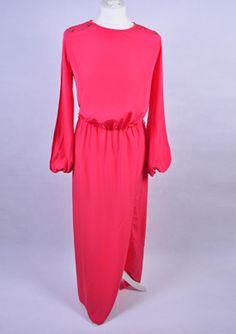 Vintage malinowa suknia