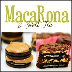 MacaRona and Sweet Tea: Oreo Peanut Butter Brownie Bites