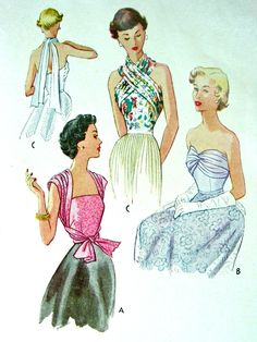 vintage sewing pattern - summer tops