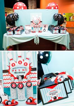 Bowling Birthday Party Featuring Nashville Wraps Gable Boxes Cello Bags And Tissue Paper