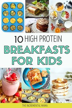 10 Delicious High-Protein Breakfasts For Kids - The Incremental Mama Looking for healthy breakfast ideas for your picky eaters? Check out these 10 simple high protein breakfasts your kids will love in the mornings. Healthy Breakfast For Kids, High Protein Breakfast, Healthy Snacks For Kids, Breakfast Ideas For Kids, Healthy Breakfasts, Protein Foods For Kids, Healthy Kid Recipes, Kid Friendly Healthy Breakfast, Simple Recipes For Kids