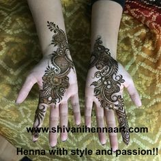 For the booking questions, please email us on ✉️shivanihennaart@gmail.com #henna… Pretty Henna Designs, Henna Designs Easy, Beautiful Mehndi Design, Mehndi Designs For Hands, Henna Tattoo Designs, Mehendi, Bridal Mehndi, Henna Mehndi, Arabic Henna