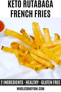 Recipes Videos Low Carb Keto French Fries Recipe (Rutabaga Fries) - Rutabaga fries make the best keto french fries! You'll love the crispy exterior. These low carb fries have just 6 g net carbs! Low Carb Keto, Low Carb Recipes, Diet Recipes, Vegetarian Recipes, Cooking Recipes, Healthy Recipes, French Vegetarian Recipe, Paleo Meals, Paleo Food