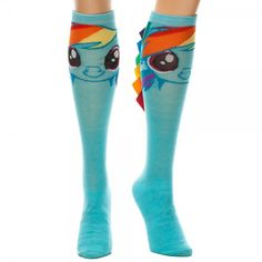 No such thing as too much color. | Rainbow Dash high socks for women.