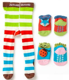 I love these socks, and they have traction on the bottom, perfect for our slippery wood floor!