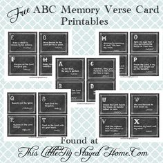 Free ABC Memory Verse Card Printable found at www.ThisLittlePigStayedHome.com
