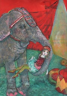 Limited Edition ACEO art reproduction  Circus by MariaPaceWynters, $6.00
