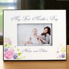 personalized my first mothers day printed frame - Mothers Day Picture Frame