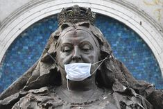 A statue of Queen Victoria was seen wearing a face mask on March 19 in Manchester, England. Getty The UK's coronavirus lockdown could. Greyfriars Bobby, Indian Scout, St Francis, Patron Saints, Queen Victoria, Mother And Child, The Guardian, Street Photography, Lion Sculpture