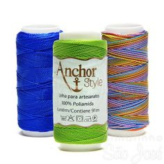 Linha Anchor Style 100% Poliamida  é um fio para artesanato em geral, é ideal para confecção de acessórios de moda, é perfeito para trabalhos em macramê