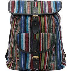 Hurley Girls Market Stripe Rucksack Backpack