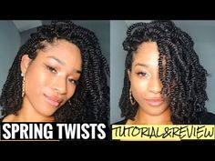 This is my first attempt at this style, and it was by far one of the easiest styles I've done! I am not a professional, so that mean A LOT coming from me LOL. Twist Braid Hairstyles, Goddess Hairstyles, Crochet Braids Hairstyles, Natural Hair Bun Styles, Natural Hair Braids, Curly Hair Styles, Spring Twist Hair, Spring Twists, Twist Curls