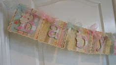 Baby Shower Banner Girl  shabby chic by ASweetCelebration on Etsy, $39.50