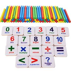 New Baby toys Kids Educational Toy Creative Wooden Sticks Fridge Magnet Mathematics Counting Set For Children Learning Toys