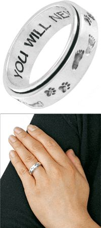"""""""Footsteps in the Sand"""" Spinning Ring at The Animal Rescue Site  I Love This!"""