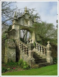 beautiful ruins, enchanted staircase