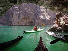 Kayaking Black Canyon, Colorado River, Arizona Nevada border