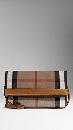 Canvas Check Foldover Crossbody Bag | Burberry
