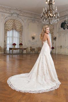 Wedding gown by Justin Alexander
