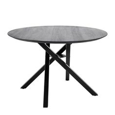 The definition in the design of this Bloomingville Connor Black Oak Round Dining Table creates interest and geometric drama in a room. Table Furniture, Luxury Furniture, Luxury Loft, Handmade Kitchens, Black Table, Elegant Dining, Round Dining Table, Table Legs, Living Room Inspiration