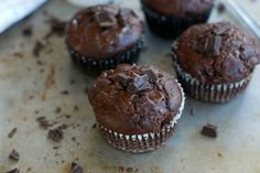 Chokladmuffins med jordnötssmör - Baka Sockerfritt