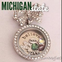 Are you ready for some football? Support your favorite college team. Origami Owl. Samantha Maitland designer. FREE CHARM with every $25 purchase. Message me to order. www.smaitland.origamiowl.com Designer ID 9229994
