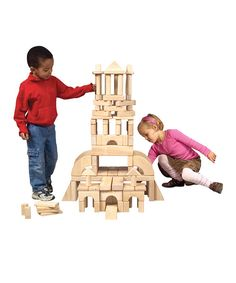 Guidecraft Classroom Unit Blocks - 110 Pieces - With 28 shapes to explore, the Guidecraft Classroom Unit Blocks - 110 Pieces will keep kids busy for hours. These solid Rubberwood blocks are offered. Preschool Block Area, Preschool Games, Activities For Kids, Wooden Blocks For Kids, Kids Blocks, Kids Fun Center, Wooden Castle, Wooden Playset, Block Play