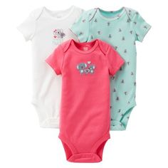Just One You�Made by Carter's� Newborn Girls' Koala 3 Pack Short-sleeve Bodysuit Set - Moon Pin