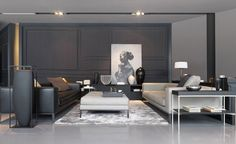 Modern living in grey and white