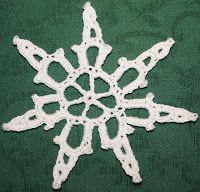 Crochet snowflake.  ASSAs hobby