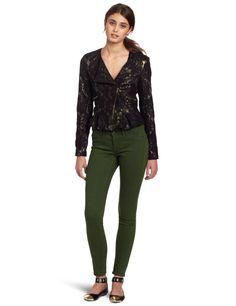 XOXO Juniors Lace Peplum Moto Jacket:Amazon:Clothing