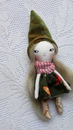wee little wonder doll 5ish handmade cloth doll with
