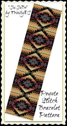 BP-PEY-062 - 2015-19 - JuJuBe - Odd Count Peyote Stitch Bracelet pattern - One of a Kind- Fashion Jewelry - DIY Bracelet Instruction