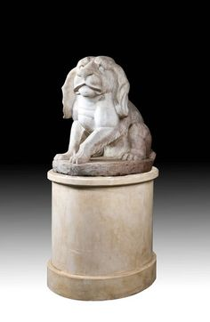 Mid 19th Century Figure Of A Marble Puppy (Ref No. 5345) - Windsor House Antiques