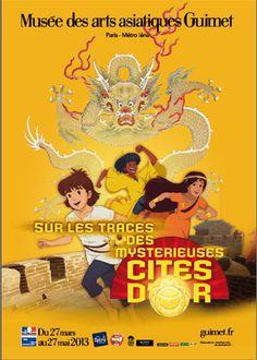 Une expo fascinante pour les enfants et pour les autres aussi, sur les traces des mystérieuses cités d'or au musée Guimet du 27 mars au 27 mai 2013
